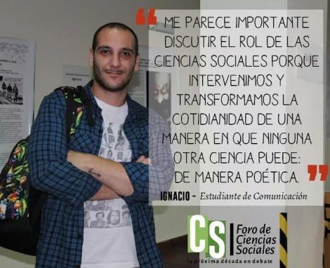Participación en el Foro de Ciencias Sociales en la Universidad de Buenos Aires