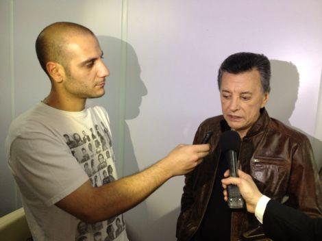 Nota con Palito Ortega en el día del jubilado